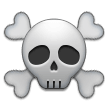 skull and crossbones emoji on samsung