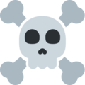 skull and crossbones emoji on twitter (twemoji)