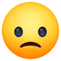 slightly frowning face emoji on facebook messenger