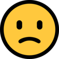 slightly frowning face emoji on microsoft windows