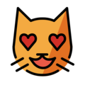 smiling cat with heart-eyes emoji on openmoji