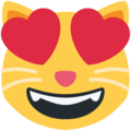 smiling cat with heart-eyes emoji on twitter (twemoji)