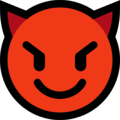 smiling face with horns emoji on microsoft windows