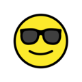 smiling face with sunglasses emoji on openmoji