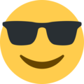 smiling face with sunglasses emoji on twitter (twemoji)