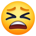 tired face emoji on facebook messenger