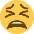 tired face emoji on twitter (twemoji)