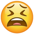 tired face emoji on whatsapp