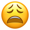 weary face emoji on apple iphone iOS