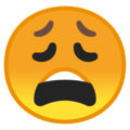 weary face emoji on google android