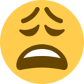 weary face emoji on twitter (twemoji)