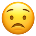 worried face emoji on apple iphone iOS