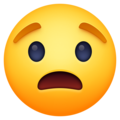 worried face emoji on facebook messenger