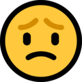 worried face emoji on microsoft windows