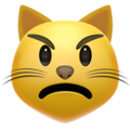 pouting cat emoji on apple iphone iOS