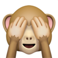 see-no-evil monkey emoji on apple iphone iOS