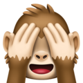 see-no-evil monkey emoji on facebook messenger