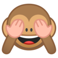 see-no-evil monkey emoji on google android