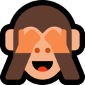 see-no-evil monkey emoji on microsoft windows