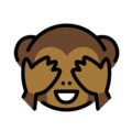 see-no-evil monkey emoji on openmoji