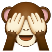 see-no-evil monkey emoji on samsung