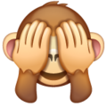 see-no-evil monkey emoji on whatsapp