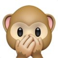 speak-no-evil monkey emoji on apple iphone iOS