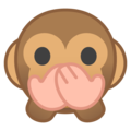 speak-no-evil monkey emoji on google android