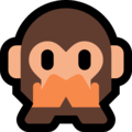 speak-no-evil monkey emoji on microsoft windows