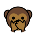 speak-no-evil monkey emoji on openmoji