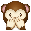 speak-no-evil monkey emoji on samsung