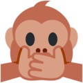 speak-no-evil monkey emoji on twitter (twemoji)