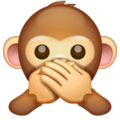 speak-no-evil monkey emoji on whatsapp